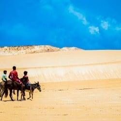 Vacaciones kitesurf en Brasil - paseo caballo dunas - Tribbuu