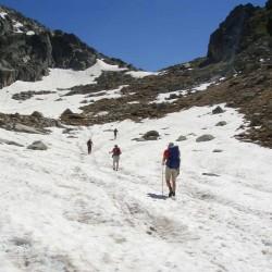 Trekking de Carros de Foc subida en nieve Tribbuu